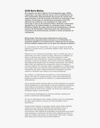 Entrevista a Berio Molina por Xosé Manuel Lens