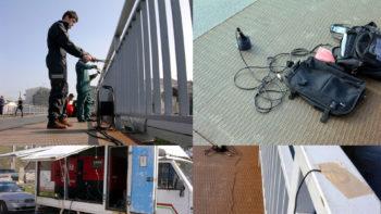 Accion escoitar na Ponte Vella De Lugo