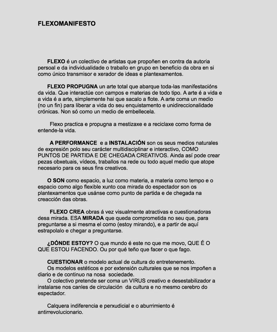 Flexomanifestos. Manifestos do Colectivo Flexo