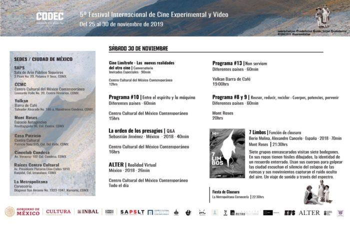 7 limbos na programación do CODEC.Festival Internacional de Cine Experimental y Vídeo
